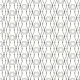 Seamless pattern lines with curve background Royalty Free Stock Photography