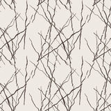 Seamless pattern of lines drawn by brush and ink Royalty Free Stock Image