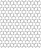 Seamless pattern of the lines of triangles and circles. Abstract stock illustration