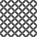 Seamless pattern of links in form of crosses. Celtic seamless pattern with swatch for filling. Chain mail of the links in form of crosses. Fashion geometric Stock Images