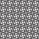 Seamless pattern of links in form of crosses. Celtic seamless pattern with swatch for filling. Chain mail of the links in form of crosses. Fashion geometric Stock Photo
