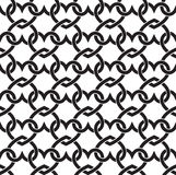 Seamless pattern of links in form of hearts Royalty Free Stock Images