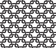Seamless pattern of links in form of trapezes Stock Image