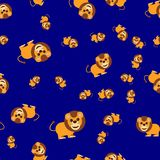 Seamless pattern from lion vector illustration
