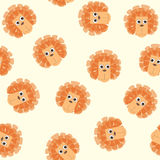 Seamless pattern with lion toys Stock Image