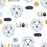 Seamless pattern with lions Stock Image