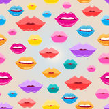 Seamless pattern of lips Stock Photo