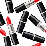 Seamless pattern with lipsticks. Royalty Free Stock Photography