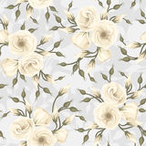 Seamless pattern with lisianthus flowers. Vector. Stock Photography
