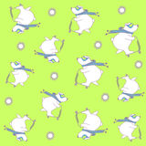 Seamless pattern with little bear Stock Image