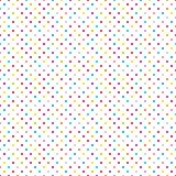 Seamless Pattern Little Colorful Dots On White. Seamless Pattern Little Colorful Polka Dots On White vector illustration