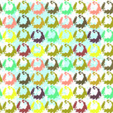 Seamless pattern of a little different flowers Royalty Free Stock Photos