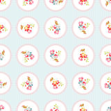 Seamless Pattern with little flowers Stock Photos