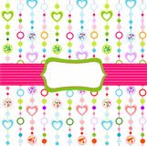 Seamless pattern with little hearts Royalty Free Stock Image