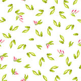 Seamless Pattern with little pink flowers Stock Photos