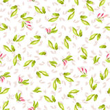 Seamless Pattern with little pink flowers Stock Photo