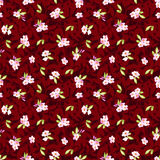 Seamless Pattern with little pink flowers Stock Images