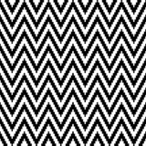 Seamless Pattern Little Pixel Chevron Black And White royalty free illustration