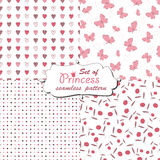 Seamless pattern for little princess Royalty Free Stock Photography