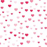 Seamless pattern with little red hearts for Valentine`s Day. Vector.  Royalty Free Stock Photography
