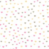 Seamless pattern with little red hearts for Valentine`s Day. Vector.  Stock Photography