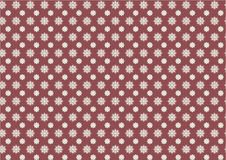 Seamless pattern of little snowflakes on marsala color Stock Photo