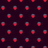 Seamless pattern with little strawberries Stock Photos