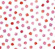 Seamless pattern of a little watercolor  flowers. Royalty Free Stock Images