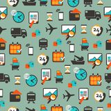 Seamless pattern with logistics equipment Stock Photo