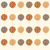 Seamless pattern with Lollipops. Royalty Free Stock Images