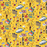 Seamless pattern of London city. Seamless pattern of famous landmarks and popular things in London city Royalty Free Stock Photography