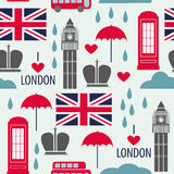 Seamless pattern with London symbols Stock Images