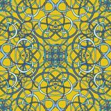 Seamless pattern of the loop. On yellow background Stock Photos