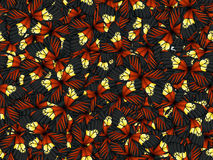 Seamless pattern with lot of different butterflys Royalty Free Stock Photos