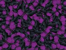 Seamless pattern with lot of different butterflys Royalty Free Stock Images