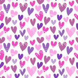 Seamless pattern with a lot of hearts. For textiles, interior design, for book design, website background Royalty Free Stock Image