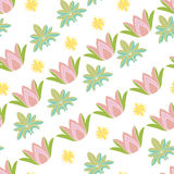 Seamless pattern with lotos. Stock Photography
