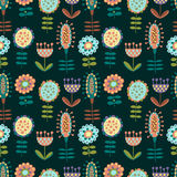 Seamless pattern with lots of flowers. For textiles, interior design, for book design, website background Royalty Free Stock Images