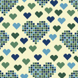 Seamless pattern with lots of green hearts Royalty Free Stock Photo