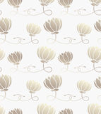 Seamless pattern with lotus Stock Photography