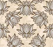 Seamless Pattern Lotus Royalty Free Stock Photography
