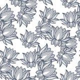 Seamless Pattern Lotus Royalty Free Stock Photo
