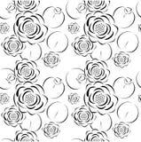 Seamless pattern of lotus flower Stock Photos