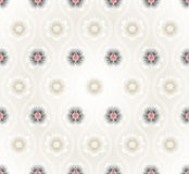 Seamless pattern with lotus flowers background Royalty Free Stock Images