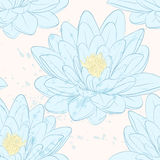 Seamless pattern with lotus flowers. Stock Photography