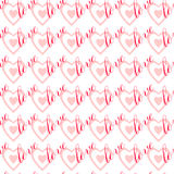 Seamless pattern Love. Stock Image