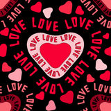 Seamless pattern with love Royalty Free Stock Image