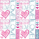 Seamless pattern of love Royalty Free Stock Photo