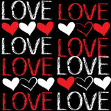 Seamless pattern of love Stock Image