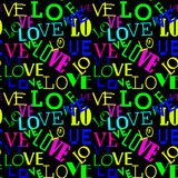 Seamless pattern with love. Abstract Heart-shaped background. Love pattern colored Royalty Free Stock Image